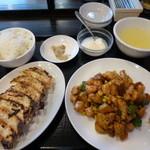 25375093 - 日替わりランチ(金曜):鶏肉とコーンと新じゃがの炒め