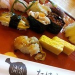 寿司海鮮 たはら - 「おまかせすし」、近海物中心のにぎり…