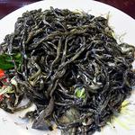 龍喜 - 男の黒焼きそば・塩(全体をザックリ混ぜて)
