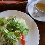 風の谷 - 共通のサラダ、スープ。