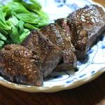 ジビエ料理アンザイ - 蝦夷鹿のもも肉のソテー、バジルと