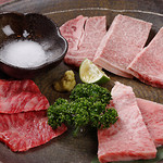 Takeshoku - 肉汁たっぷりのお肉♪タレ・塩・わさび・かぼすをつけて召し上がれ★