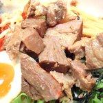 AFURI - <'14/02/18 撮影>つけ麺(並盛)辛露 930円 の角切りチャーシュー