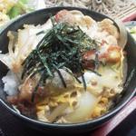 喜楽食堂 - セットの唐揚げ丼(ミニ)