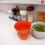 スパゲティ マルス - 卓上&日替わりスープ&水