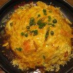 MADE IN JAPAN かにチャーハンの店 - ・「かに玉チャーハン 味噌汁付き(\680)」。