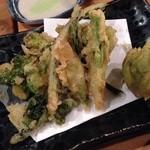 忠兵衛 - 春野菜の天ぷら