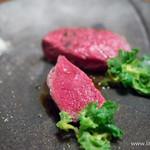 入 - 岩手県産 短角牛のグリル 3種の塩を添えて【2014年3月】