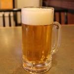 旬坊 - 生ビール 580円。