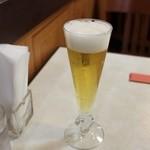 公園通りの洋食屋 ROMAN - ランチビール 200円。