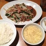 万豚記 - ランチ、レバニラ炒め(^o^)/