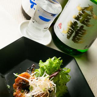 宮城のさまざまな地酒が豊富に用意されています