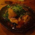 酒や肴や もっきり - 揚げ里芋ゆば餡かけ680円