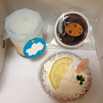 プティ・クリフ - ミルクプリン、レモンレアチーズケーキ、久万山ショコラ味噌風味