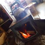 25466103 - 冬は薪ストーブが燃える