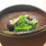 うち山 - 小松菜とシメジのおひたし