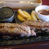 ステーキガスト - 料理写真:ステーキ屋さんの力こぶハンバーグ~☆
