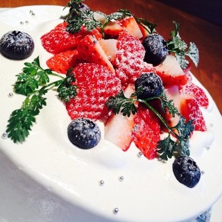バースデーケーキをご用意♪