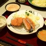 かつ波奈 - 厚切りヒレかつ定食(小)