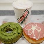 クリスピー・クリーム・ドーナツ - 抹茶オールドファッション、さくらクリームドーナツ、さくらティーラテ