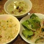 Rokoushurou - チャーハン、サラダ、スープ