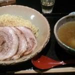 麺処 銀笹 - 銀笹つけ麺(塩)+炙りチャーシュー、味玉