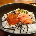 25479636 - たらこ三色丼 1000円。