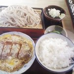 鳴子庵 - 料理写真:エビカツ煮セット