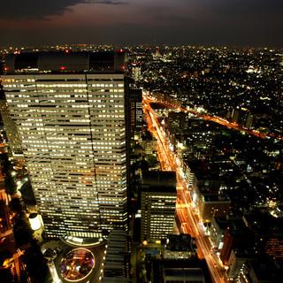 ≪野村ビル最上階≫50F見渡す限りの新宿摩天楼の夜景♪