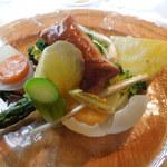 ラ・ターブル・ド・トリウミ - 前菜③野菜たっぷりの前菜をパイと共に