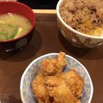 すき家 - 牛丼(並盛)+からあげセット