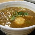 つけめん 蕾 - 濃厚煮干つけ麺 並 780円。味玉 100円。