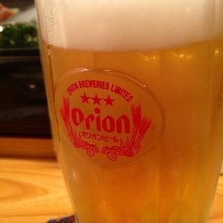 当店は「生」オリオンビールにこだわります。