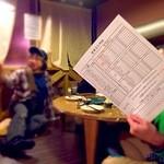 阿波や壱兆 - ご注文は専用の用紙で、そして、お料理の上げ下ろしはお客さまにご協力を頂きます、ので、ロフト席専用割引ありま~す。