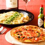 博多 Tacosバル ばぶばぶ - トマトピザとパスタ