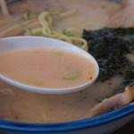 ら~めん蔵 - 1-2)ホホ肉(網走産・限定)チャーシュー麺(しお)のスープ