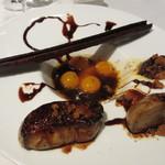 ア・タ・ゴール - ペリゴール産フォアグラのソテー 金柑マンダリンのコンポート ウィンコットの杏