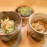 竹はる - 生シラス、山葵海苔、塩辛