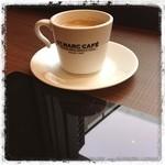 サンマルクカフェ - 霧雨だね…まだ眠い、カフェイン注入中(~_~