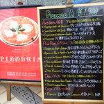 ピッツェリア・サバティーニ - お店の外の看板