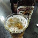 お食事処 さざなみ - 海からあがった後のビールは美味しい~♪