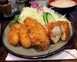 豚珍館 - ミックスフライ1100円
