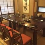 旬菜料理 苧麻 - 料理写真:テーブル席で14名様までご利用できます。