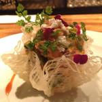 マルゴ - 菜の花とタコの中華風マリネ