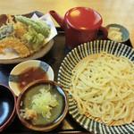 吉庵 - 天もりうどん・野菜(1050円)_2014-03-2