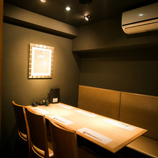 プライベートなひとときが過ごせる、ゆったりとした個室