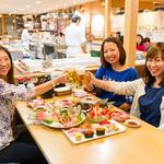 沼津港 - ボックス席で女子会!ビールが美味しい