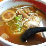 紀州らーめん おかげさん - 豚骨+魚介のあっさりスープ