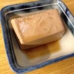とんかつ 安右衛門 - お通し       豆腐の煮物