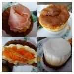 つもん - 「スフレ」は間に生クリームが入っています。レアチーズケーキ。 「タルトに生ハムが入った品」「タルトにサーモンが入った品」